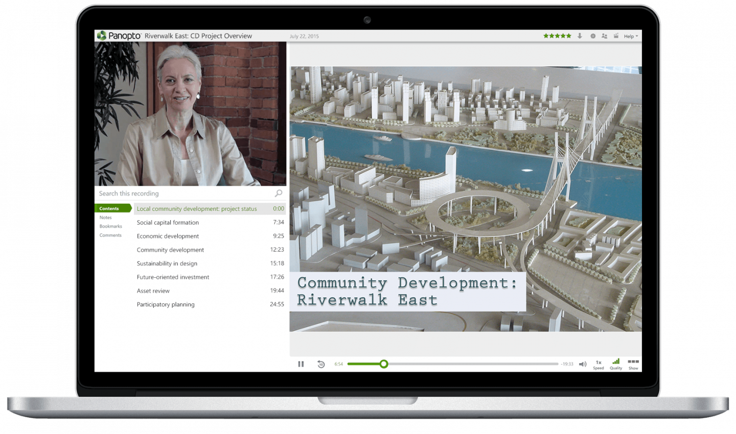 Record live on-demand videos that support university development with Panopto's video platform for education