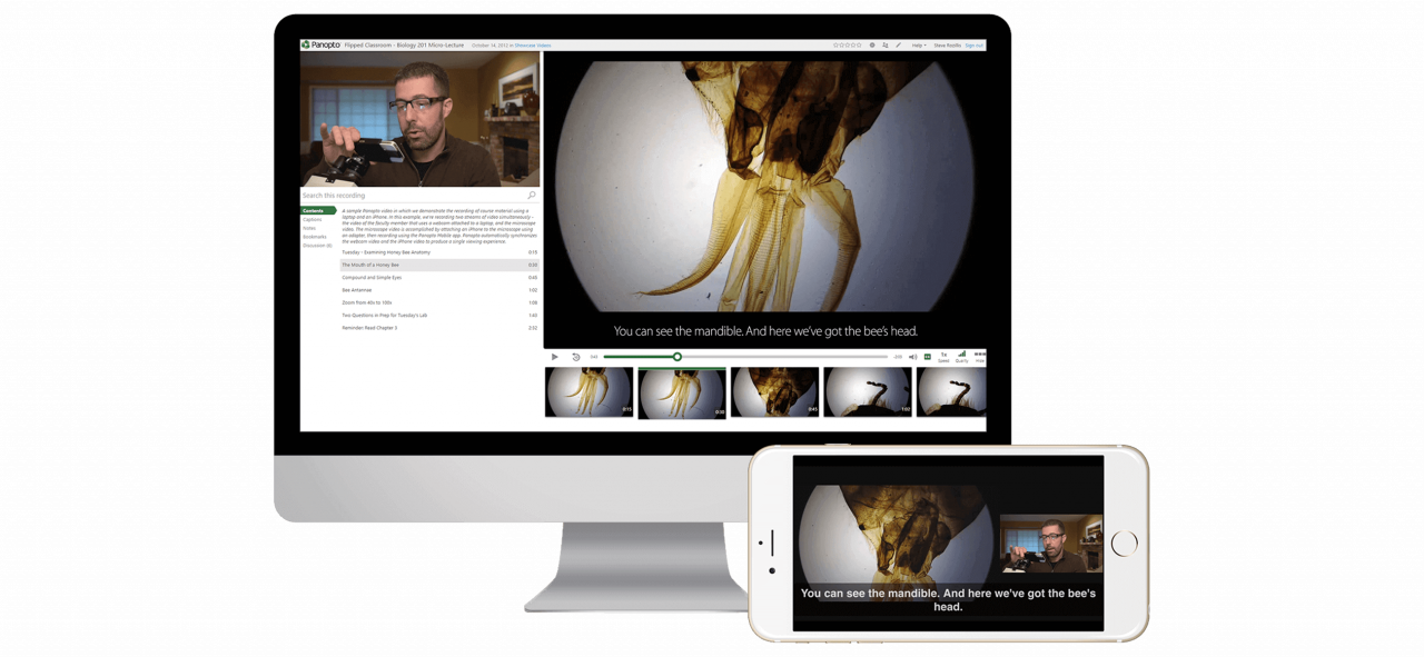 Panopto's video platform helps make online videos for education accessible