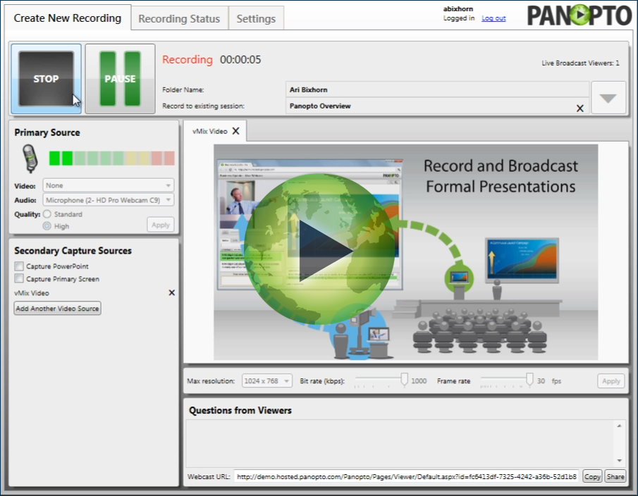 Panopto Online Video Platform - Failsafe Recording