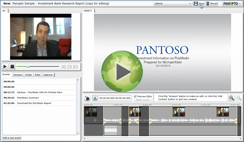 Panopto Video Platform - Crossfade