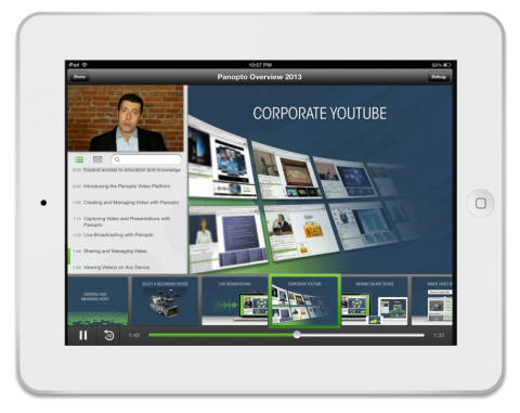 Panopto Online Video Platform - 4.4 iPad app
