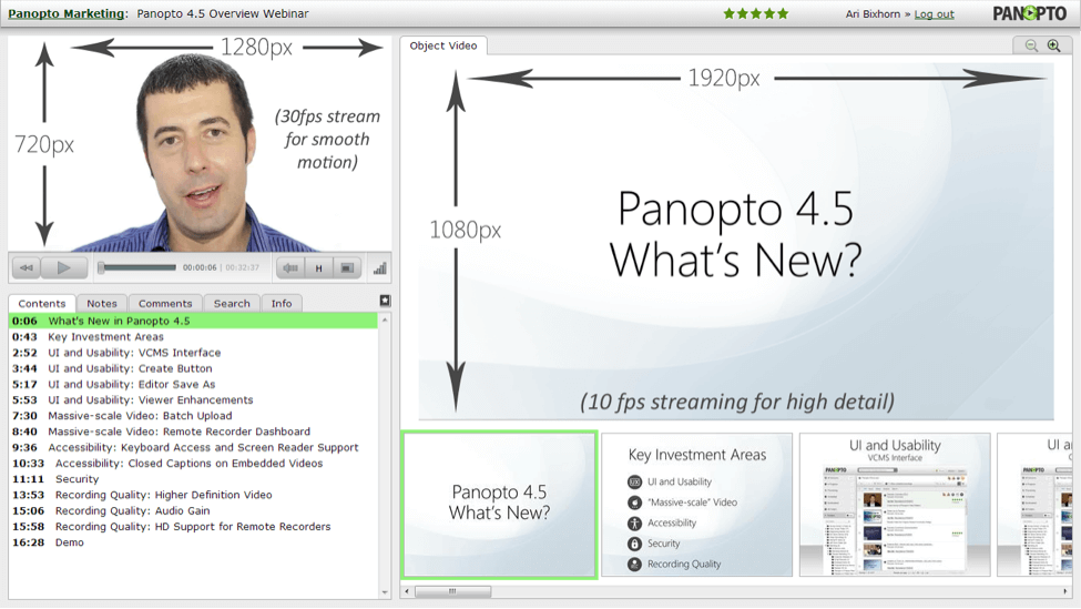 Improve video quality of live streams with Panopto