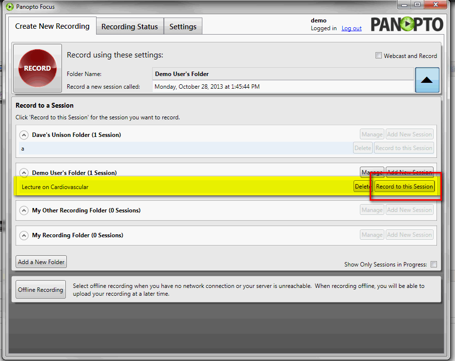 Panopto Video Platform - Step 3 to Webcast