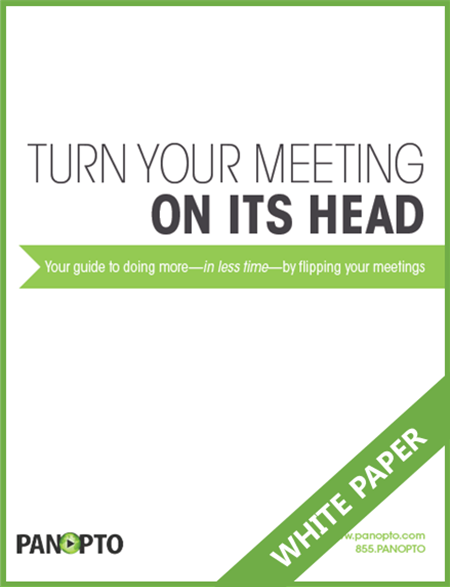 Flipped Meetings White Paper Icon - Panopto Enterprise Video Platform