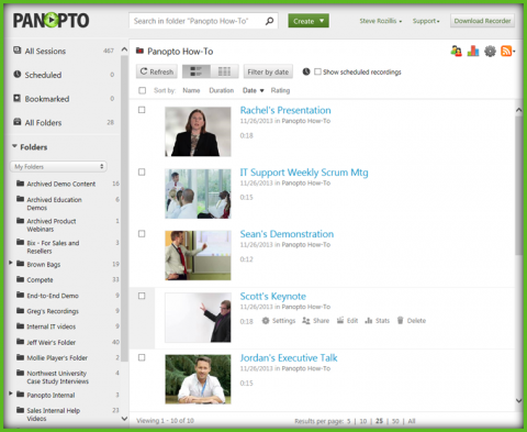 Panopto Enterprise Video Platform - Video Content Management System