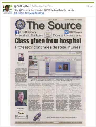 UPITT Bradford - Class Given From Hospital Front Page - Panopto Video Platform
