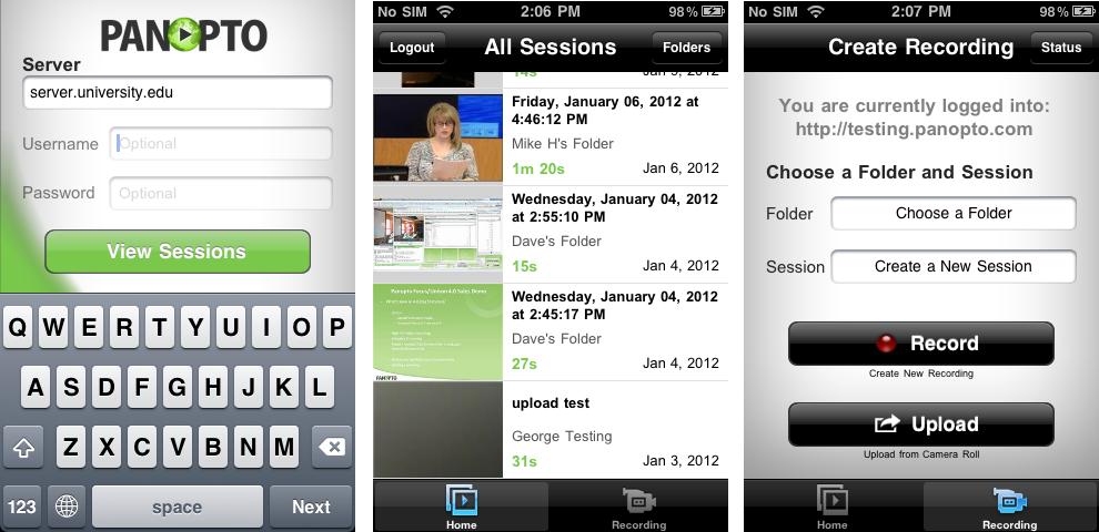 Panopto 4.1 iOS App
