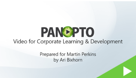 Video and Sales Enablement Blog Video - Panopto Video Platform