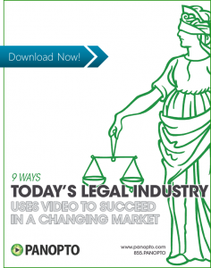 ICON - CTA - 9 Ways The Legal Industry Uses Video to Succeed - Panopto Video Platform