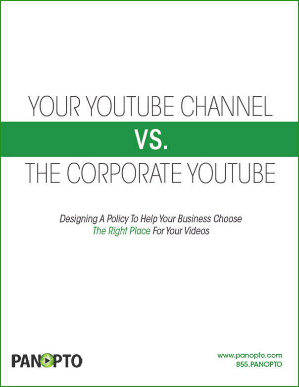 ICON - WP - Selecting between a YouTube Channel vs the Corporate YouTube VCMS
