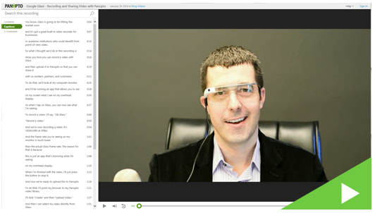 Recording Panopto Video with Google Glass - Panopto VCMS