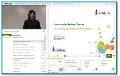 Tableau presentation image - Panopto Video Platform
