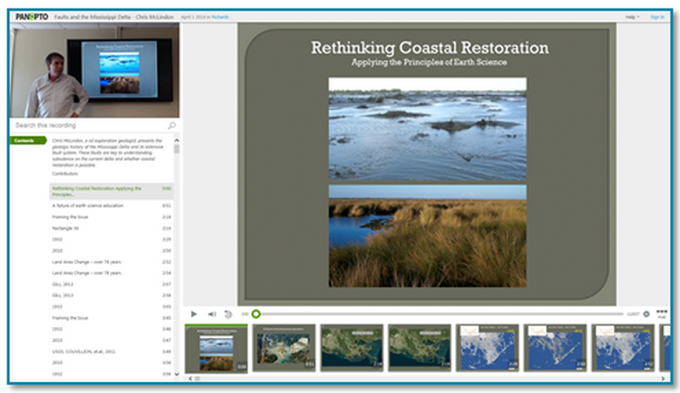 Coastal Restoration Presentation thumbnail - Panopto Video Platform