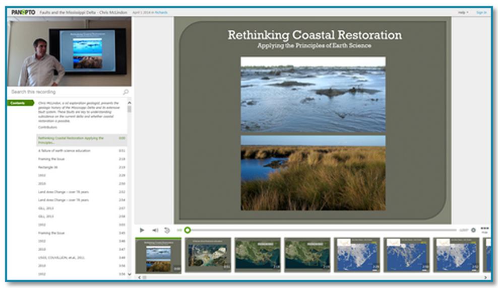 海岸線の修復に関するプレゼンテーションのサムネイル - Panopto Video Platform