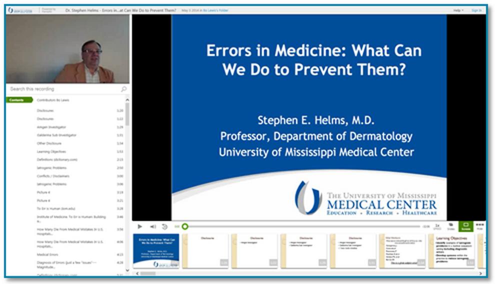 Vorschaubild Fehler in der Medizin - Panopto Präsentationsaufzeichnung
