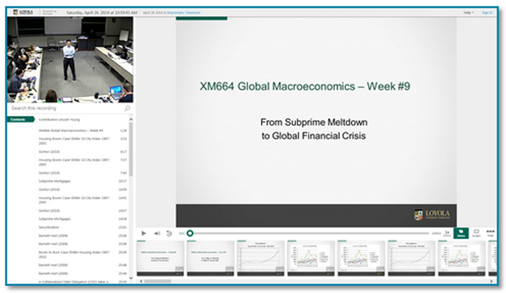 Global Macroeconomics lecture - Panopto Classroom Capture