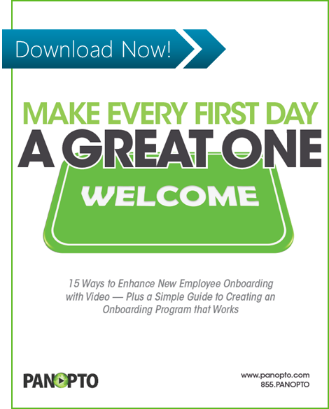 Welcome aboard 8 ideas for better employee onboarding videos new employee onboarding with video white paper make every first day a good one m4hsunfo