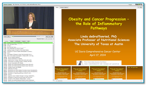 Obesity and Cancer presentation thumbnail - Panopto Presentation Capture Platform