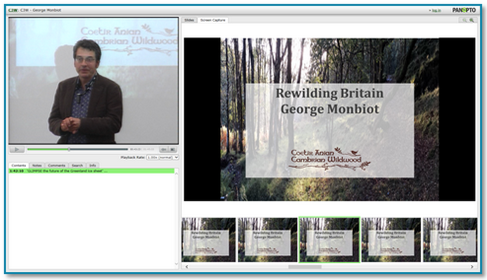 Rewilding Britain presentation thumbnail - Panopto Lecture Capture