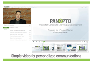 Simple video for personalized communications - Panopto for sales enablement
