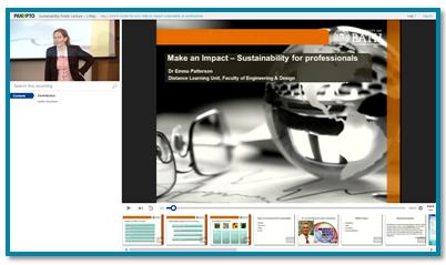 Le développement durable pour les professionnels - Panopto Video Platform