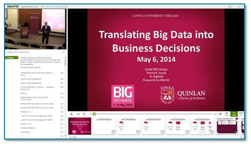 Translating Big Data presentation thumbnail - Panopto Online Presentation Platform