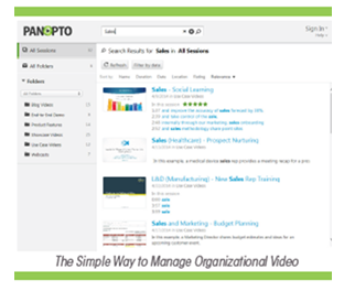 Video Content Management with Panopto Online Video Platform