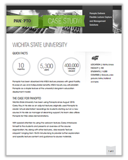 Wichita State University case study icon - Panopto VCMS