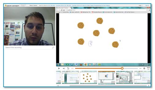 Miniature d'un cours de l'Université Adelphi - Plateforme d'apprentissage vidéo Panopto