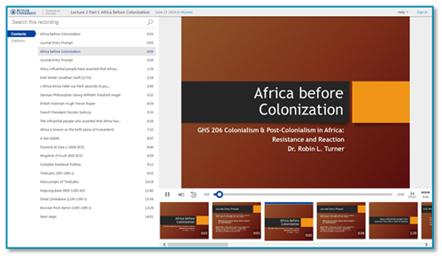 Africa Before Colonization - Panopto Lecture Capture Platform