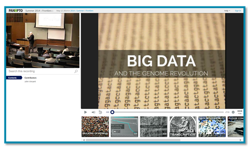 Big Data and the Genome Revolution - Panopto Video Platform
