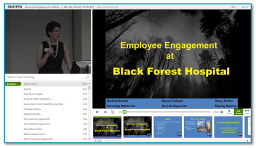 Employee Engagement at Black Forest Hospital - Panopto Presentation Capture