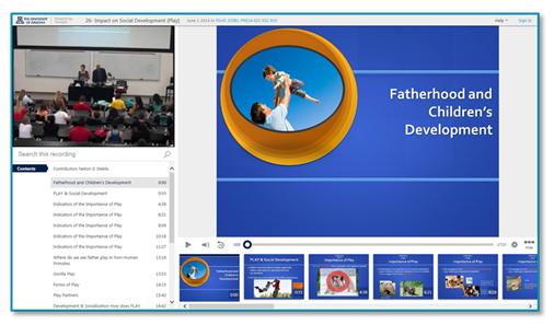 Miniature de la présentation sur la paternité et le développement de l'enfant - Plateforme de capture de conférence Panopto
