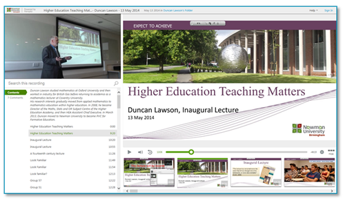 Higher Education Teaching Matters - Panopto Video Platform