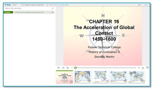History of Civilization presentation thumbnail - Panopto Online Presentation Platform