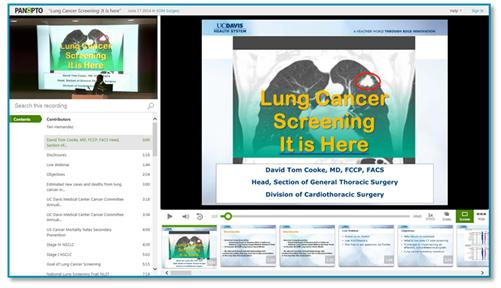 폐암 검사 프레젠테이션-Panopto 프레젠테이션 캡처 플랫폼