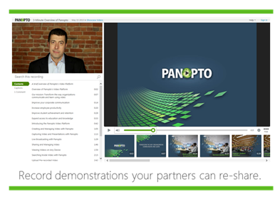 Record Demonstrations - Panopto Video Platform
