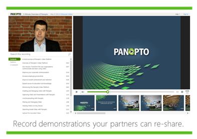 Enregistrer des démonstrations - Plate-forme vidéo Panopto