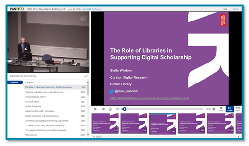 Role of Libraries presentation - Panopto Video Platform