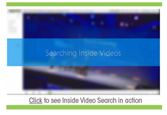Search Inside Video - Panopto Video Platform
