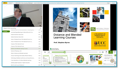 University College Cork Presentation - Panopto Lecture Capture Platform