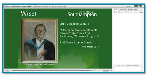University Southampton Presentation - Panopto Lecture Capture Platform