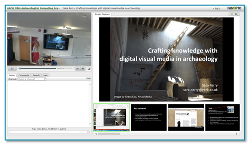 University of York presentation thumbnail - Panopto Lecture Capture platform