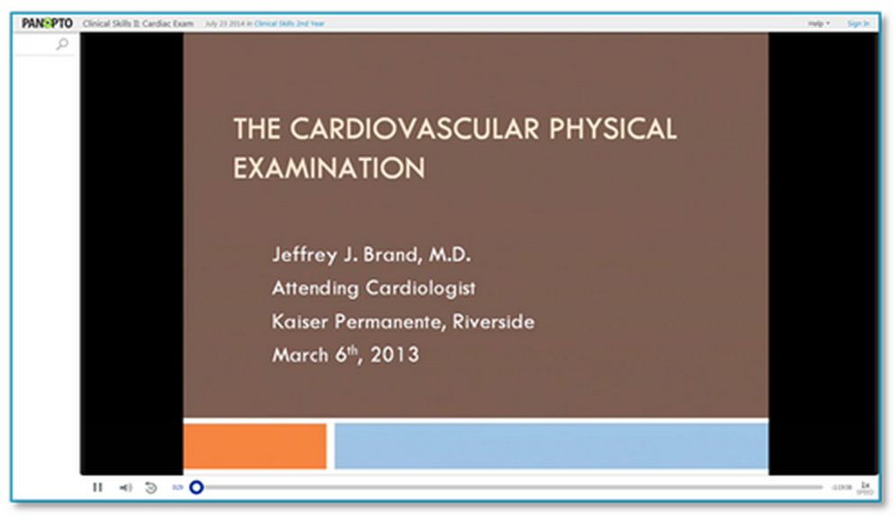 Cardiovascular Physical Examination - Panopto VCMS