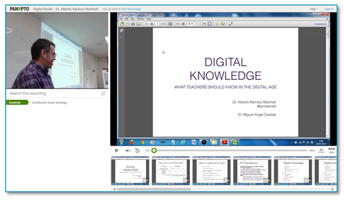 Digital Knowledge Presentation - Panopto Video Platform