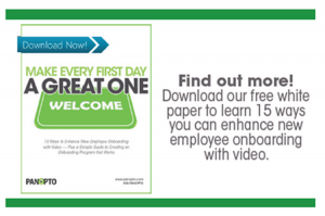 Employee Onboarding with Video - Panopto Video Platform