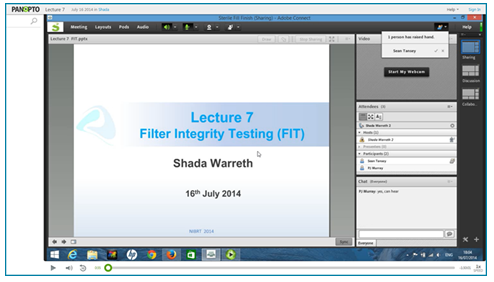 Filter Integrity Testing Presentation - Panopto Video Platform
