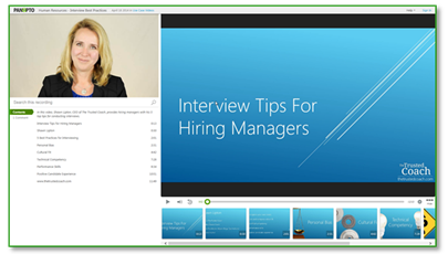 Interview Tips Sample Video - Panopto Video Platform
