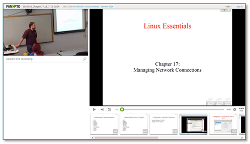 Linux Essentials Presentation - Panopto VCMS