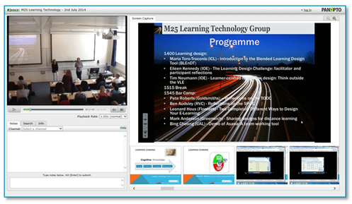 M25 Learning Technology Group Conference - Panopto Video Platform